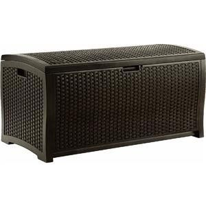 Suncast DBW9200 Mocha Wicker Resin Deck Box, 99-Gallon - $88.19