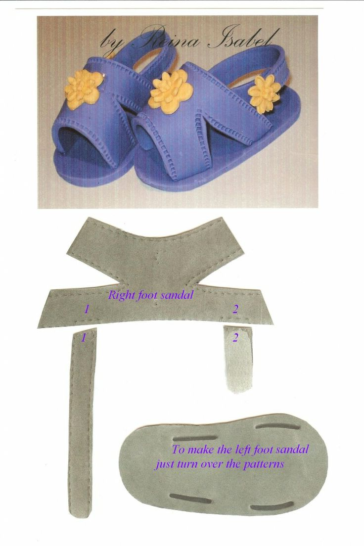 Sandales bébé adaptables aux poupées