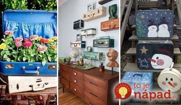 Naozaj originálne! 30 skvelých inšpirácií, ako využiť staré kufre. Všetky pokope nájdete tu: http://www.tojenapad.sk/30-skvelych-inspiracii-ako-vyuzit-stare-kufre/  #suitcases #kufre #tojenápad