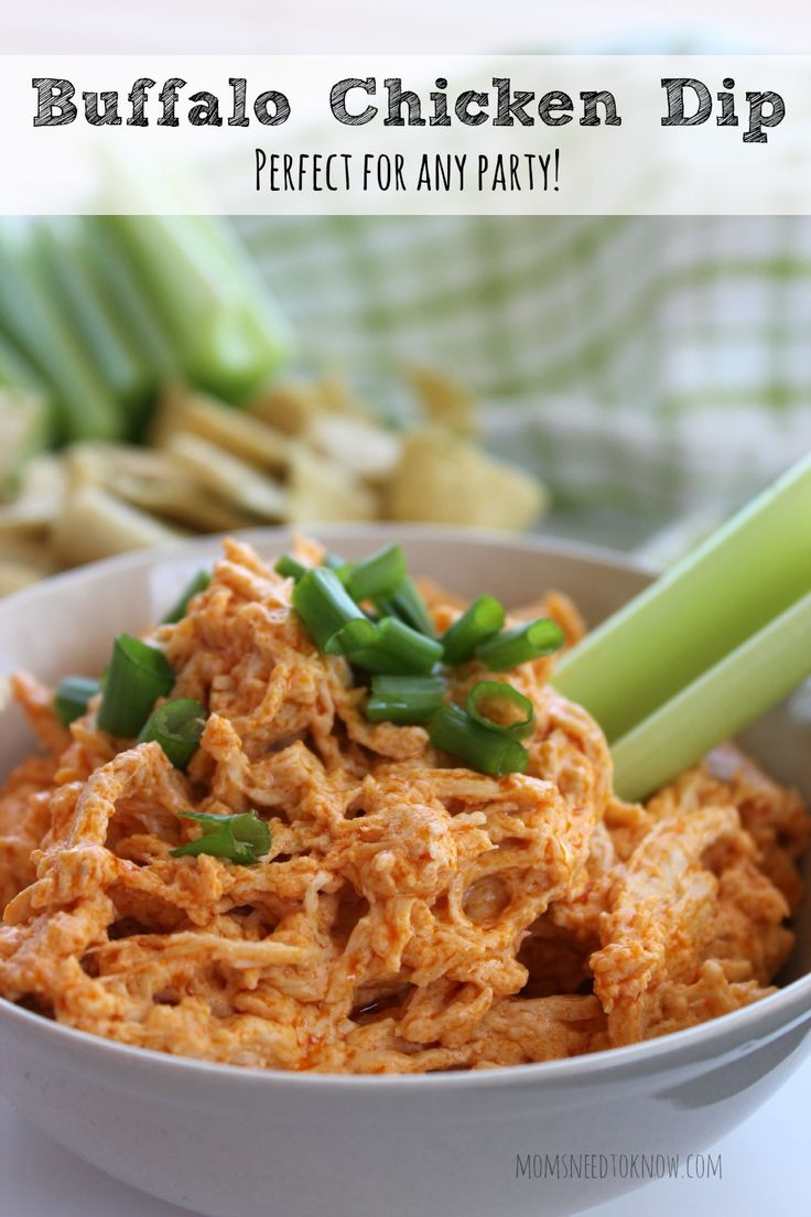 This Buffalo Chicken Dip Recipe is perfect for game day or any party!  So easy to make and always a crowd favorite!