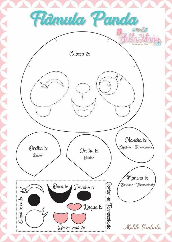 Pin de Frida Roxana Vilchez Rodríguez en Pandas | Pinterest | Felt ...
