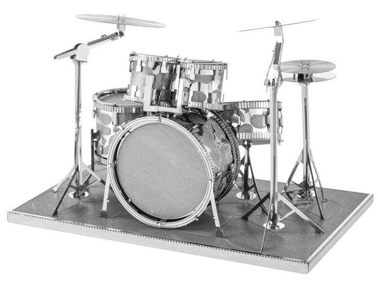 Drum Kit Metal Modelling Kit - Create a miniature metal model of a drum kit