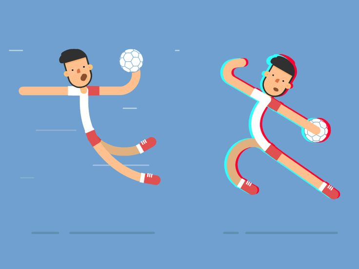 Handball Player by qpoziomek