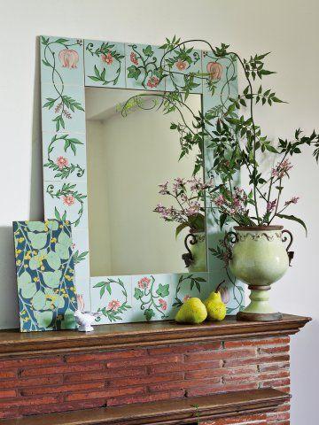 17 meilleures id es propos de cadres de miroir peints sur pinterest vanit - Decorer sa salle de bain soi meme ...