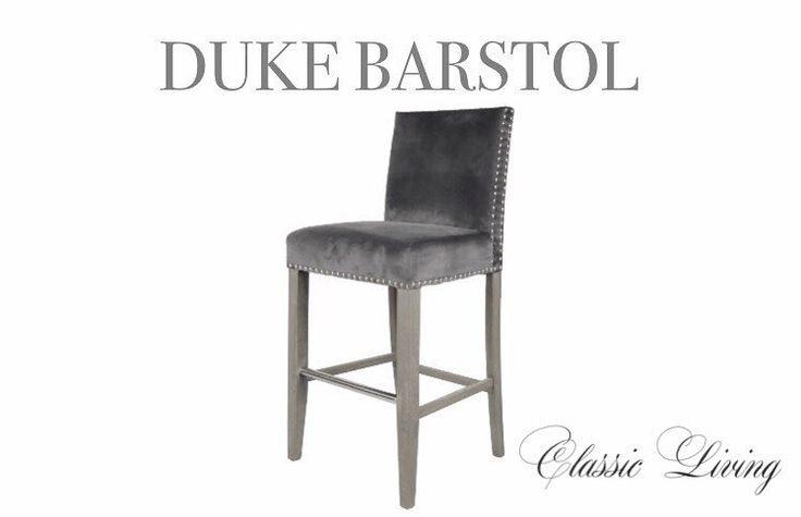 "DUKE BARSTOL Nydelig elegant barstol med rette linjer. Kommer med sølvnagler. Bena er i fargen ""grålig eik"". Stolen har en meget god sittecomfort og er tilpasset kjøkkenøy i forhold til sittehøyde. #classicliving #classy #homedesign #house #furnitures #møbler #interiør #interior #furniture #home  #interiorlovers  #housedecor  #interiorpassion #decoration #design #vakrehjemoginteriør #housestyling #homestyling #classy  #vakrehjem #nordiskehjem #nordicinspiration #boligpluss #bobedre…"
