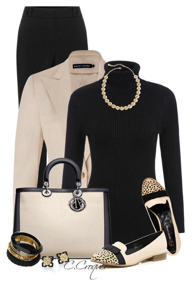 """""""Classic"""" by ccroquer ❤ liked on Polyvore featuring HUGO, Ralph Lauren, Monet and Tory Burch"""