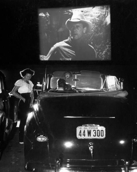 At the Drive-In, 1950s.