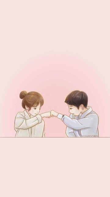 Girls Korean Cute Cartoon Wallpaper
