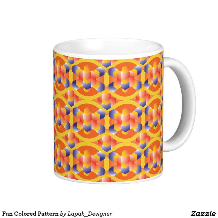 Fun Colored Pattern Coffee Mug