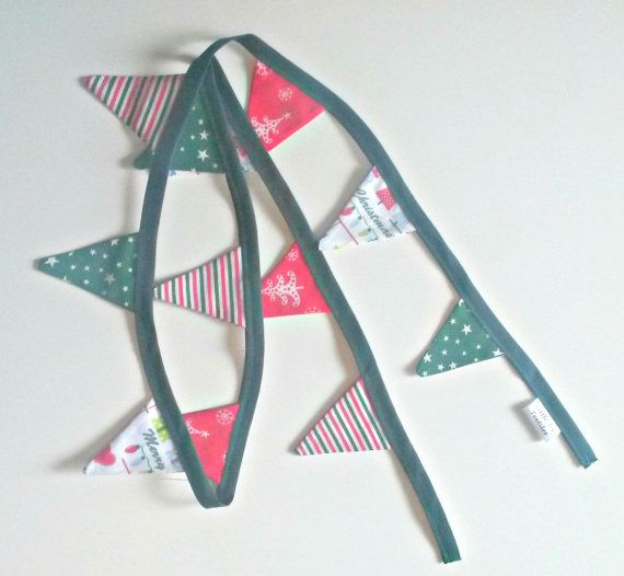 Christmas Bunting Christmas Tree Decoration by LittleTsTextiles