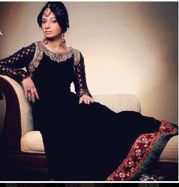 Black gown fancy dress
