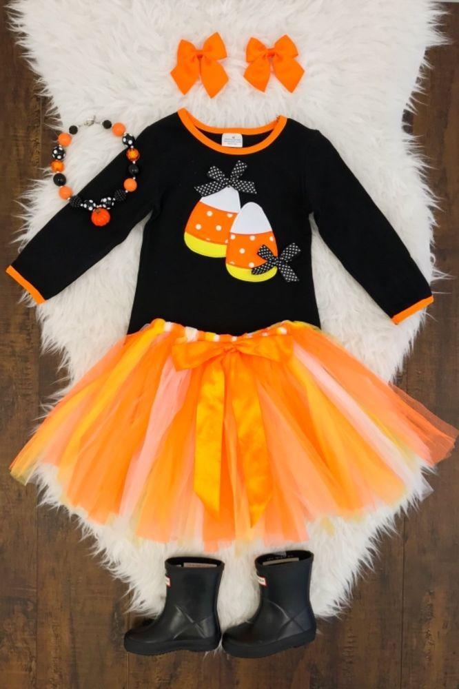 7e9b0c493dea Baby Infant Girls Appliques Skull Skirt Leggings Costume Romper Dress  Halloween Outfits Set  (12