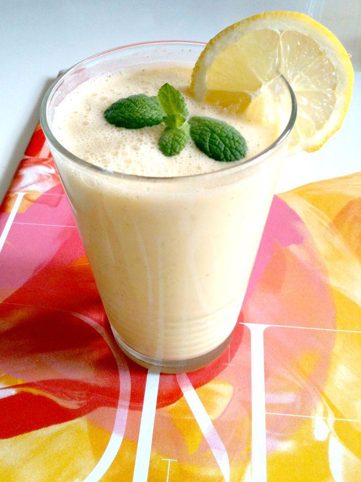 zomertijd - zomers drankje met munt, citroen, appel