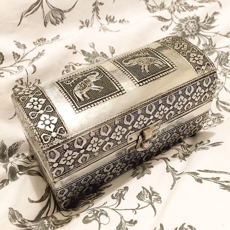 Ornate Elephant Jewellery Box – Druzy Dreams
