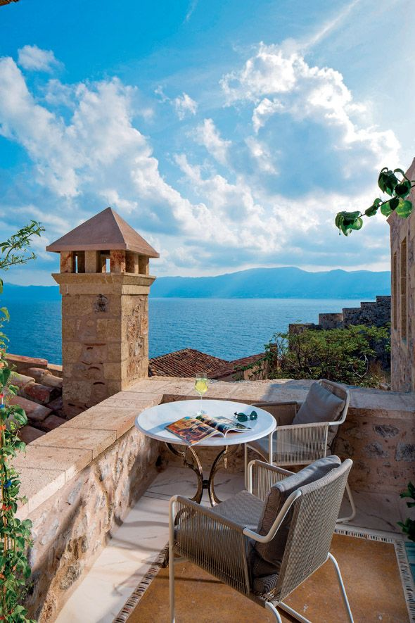 Monemvasia, one of the most popular destinations in Peloponnese, Greece