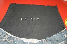 How to transform previously owned jeans into maternity wear.