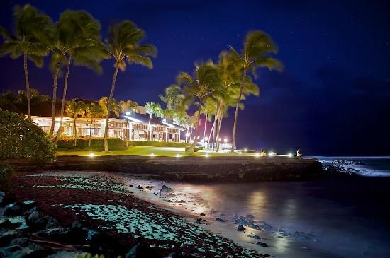 The Beach House Restaurant, Poipu, Kauai - delicious food while watching the most beautiful sunset I have ever seen.