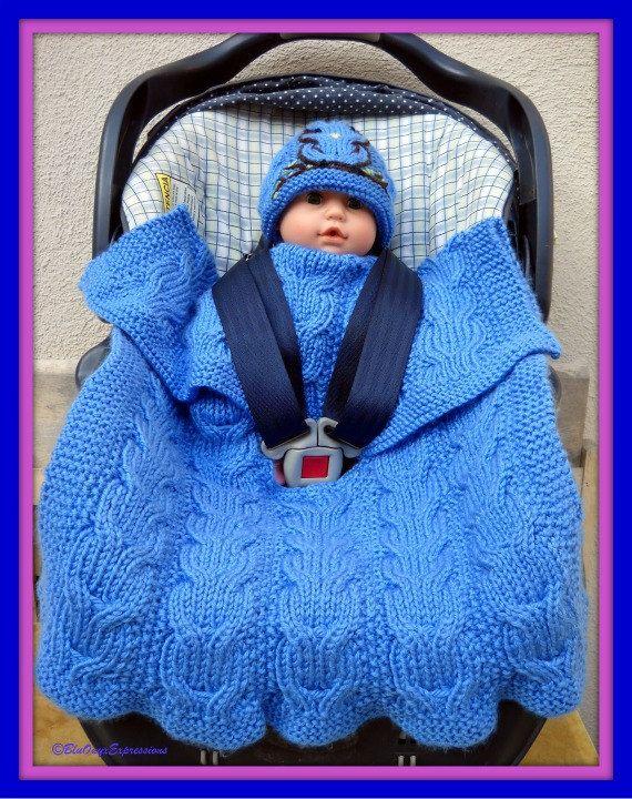 Owly Reversible Stroller Blanket - Knitting Pattern PDF ...