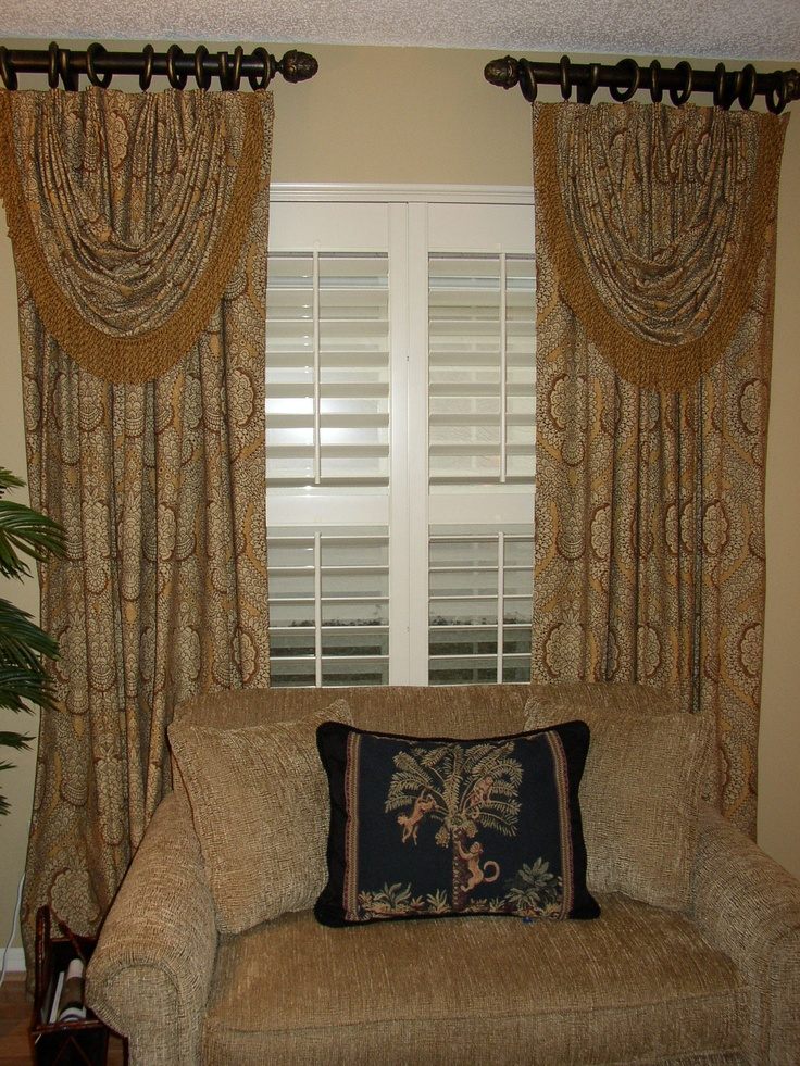 Plantation Shutters With Curtain Panels Functionalities Net