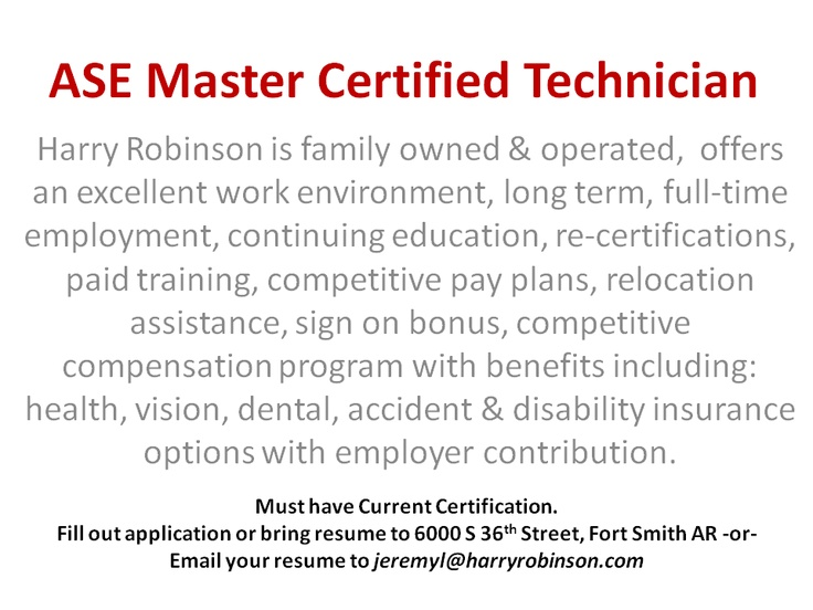 We hire the best to service your vehicle.  #ase master technician, #auto jobs, #Auto mechanic, #Automotive, #employment opportunity, #Fort Smith, #Fort Smith Arkansas, #hiring, #job opportunity