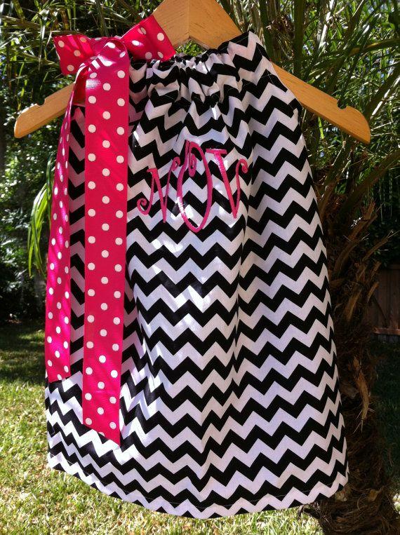 Chevron Pillowcase Dress  Toddler Dress  by Rubyandoliver on Etsy