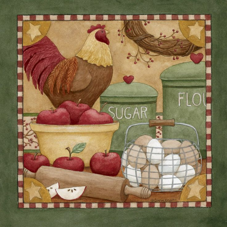 Nice Country Kitchen Art  By Teresa Kogut