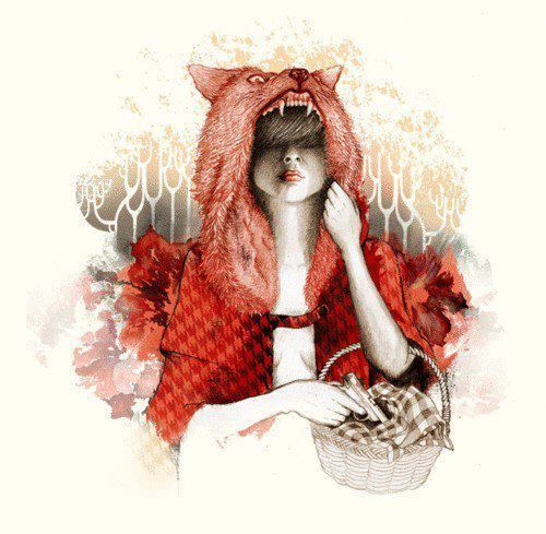 little red ridding hood I just love the pink wolf hood!