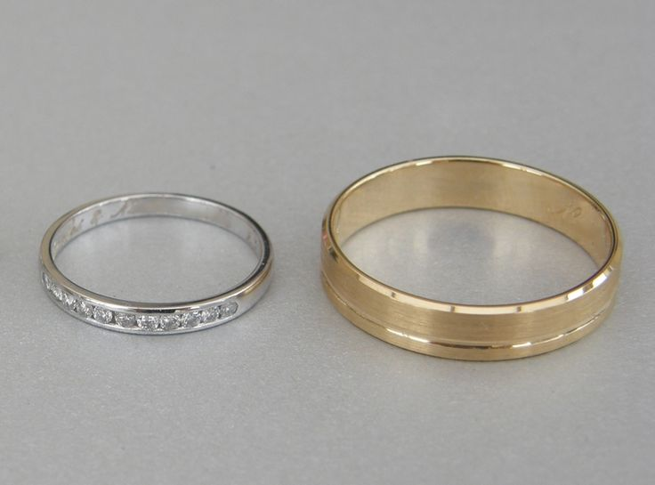 Alliances pas assorties mariage