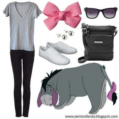 What I'm Wearing to Disney: Eeyore Disneybound Kadi if you ever db as pooh I'll do this!
