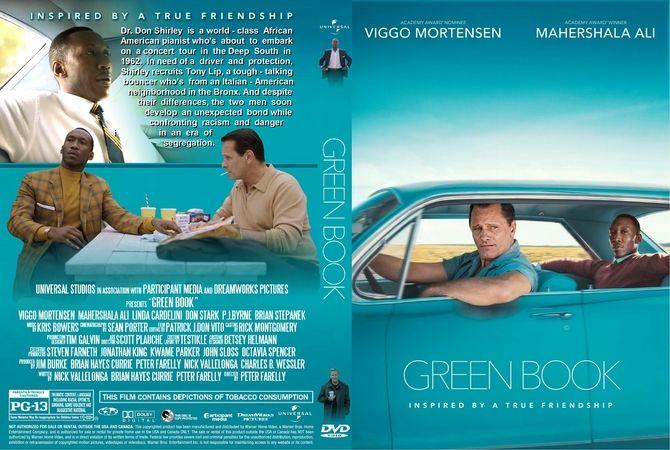 Green Book 2018 Dvd Custom Cover Dvd Cover Design Custom Dvd Dvd Covers