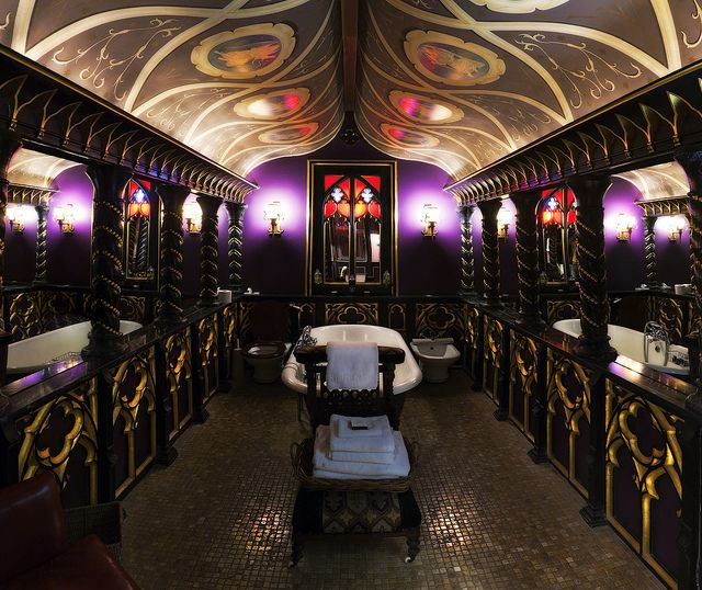 The Witchery hotel, Edinburgh  This is the bathroom of the Old Rectory suite (We stayed here years ago.)