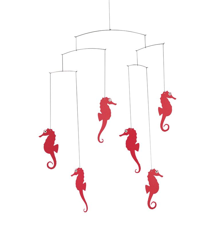 Sea Horse (red) by Flensted Mobiles