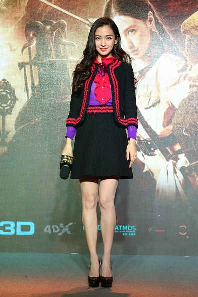 FABULOUSLY SPOTTED: ANGELABABY AT THE 'THE GHOULS' BEIJING PRESS CONFERENCE - 2015 - http://www.becauseiamfabulous.com/2016/01/01/fabulously-spotted-angelababy-at-the-the-ghouls-beijing-press-conference-2015/