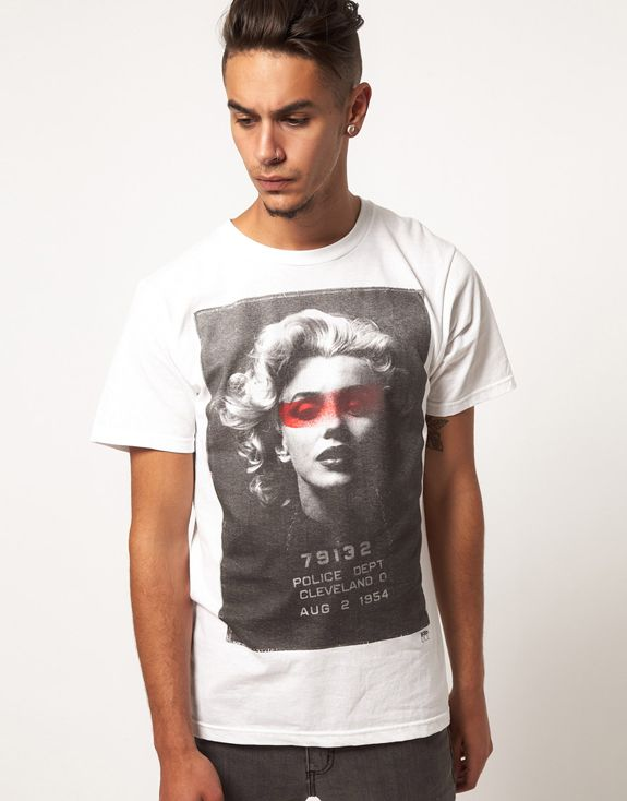 $28 Marilyn Monroe mugshot tee by Born Idol