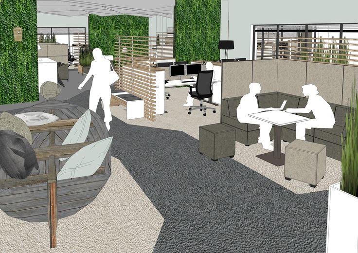 Greenery - mit grünen Raumtrennern von Febrü lässt sich Ruhe und Wohnlichkeit ins Teambüro bringen. Geplant wurde das vielseitige Open-Space-Büro von Febrü