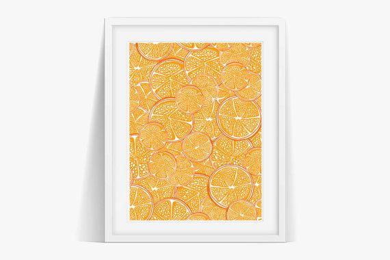 Check out Oranges Ink Art Poster Print Digital Download on janesapple