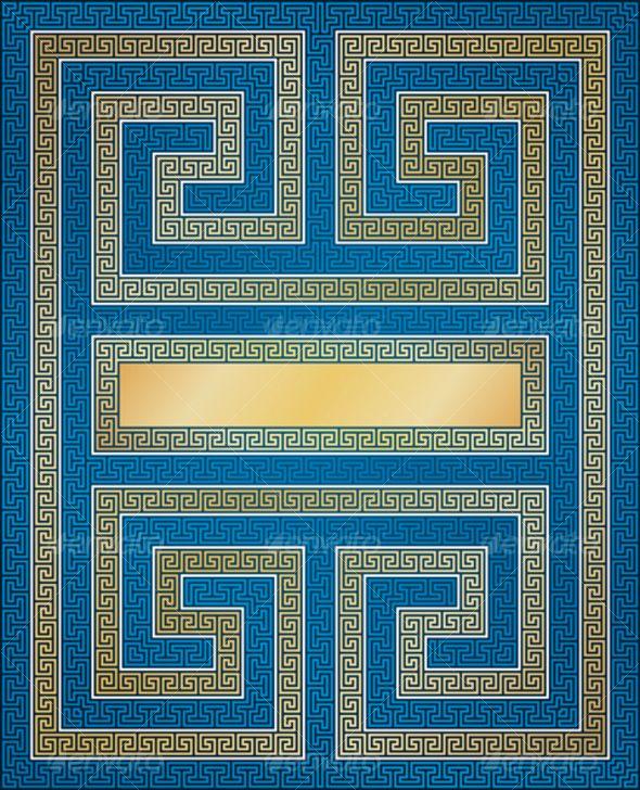 Vector background of greek elements. — Stock Vector ...   Ancient Greece Wallpaper Designs