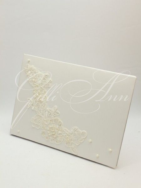 Свадебный альбом для пожеланий Gilliann Lace Pearl AST065, http://www.wedstyle.su/katalog/anniversaries/wedding-guest-book/albom-svadebnyh-pozhelanij-gilliann-ocean-6146, http://www.wedstyle.su/katalog/anniversaries/wedding-guest-book, guest book, wedding guest book