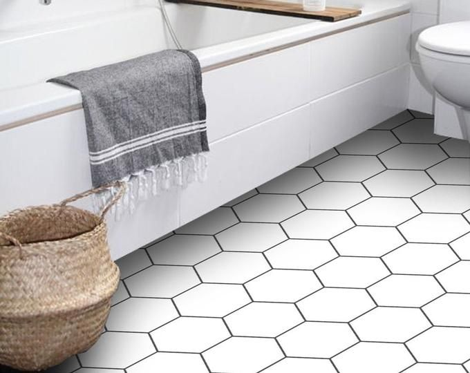 Tile Floor Stickers Removable Water Resistant By Quadrostyle