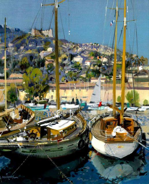 Provence Landscape Painting by Gabriel Deschamps French Artist