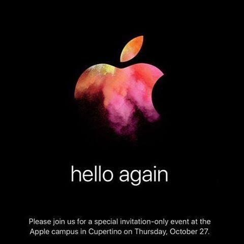 Apple рассылает приглашения на своё мероприятие которое состоится 27-го октября. Посмотрим что же там будет! #apple #iphone #functionaljs #underscores #telerik #javascript #codeholicshk #js #geek #hk #programmer #developer #coder #hongkong #hkmeetups #jsdev #dotnet #cocoon
