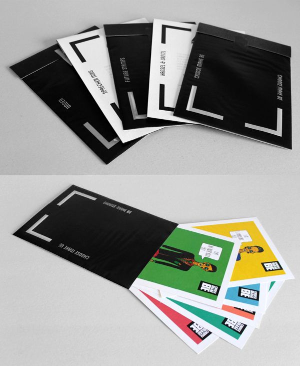 take the example portfolio which contains several different loose prints of the graphic designers work divided into different envelopes t - Graphic Design Project Ideas For Portfolio
