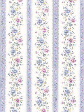 Rayures bleu violet fleuries