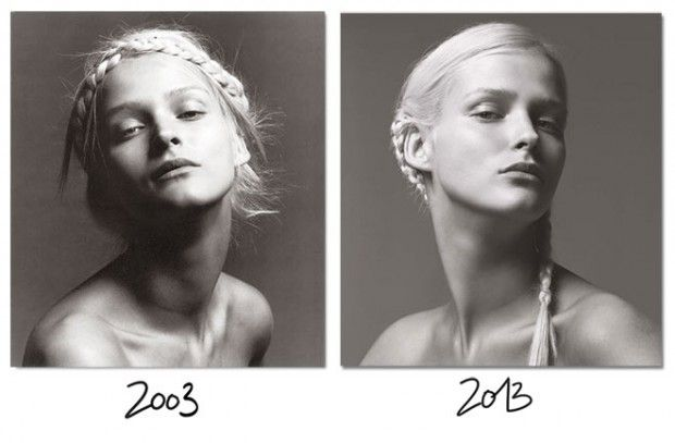 For Her perfume ads by Narciso Rodriguez, model Carmen Kass, photographers Inez and Vinoodh