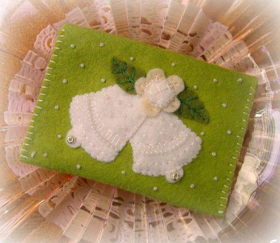 Wedding Bells Felt Gift Card Holder Envelope