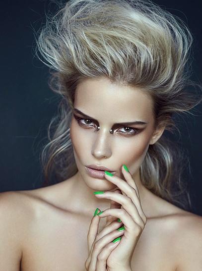 Gavin O'Neill. Makeup runway editorial