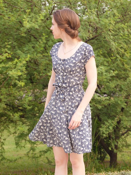 Sew Over It Doris Dress in Liberty print fabric. Get the sewing pattern here: http://sewoverit.co.uk/product/doris-dress-sewing-pattern/