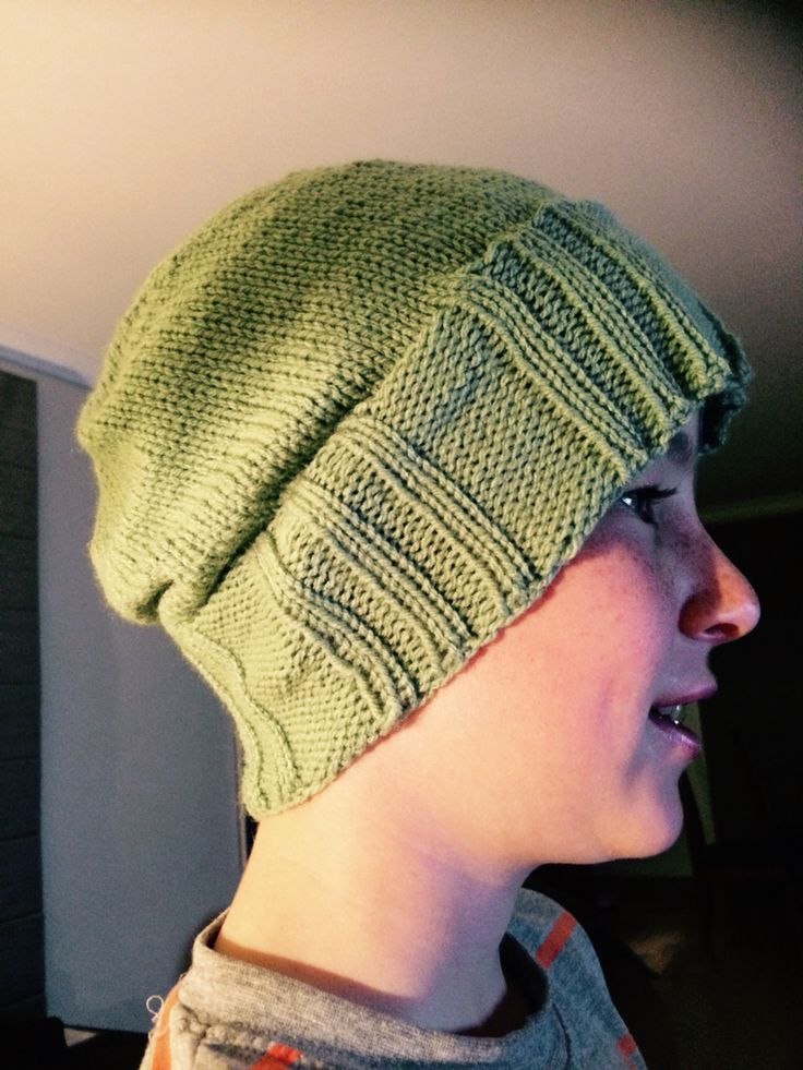 Knitted this beanie for Coops in 2 days.