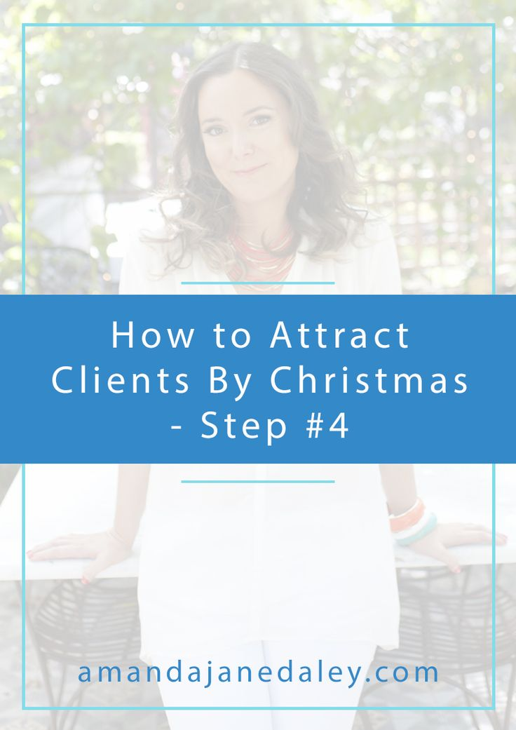 How to attract clients by Christmas step 4