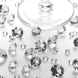 Add real sparkle to your wedding tables or around your wedding cake with these table diamonds ... it is just a stunning addition to your table decoration.